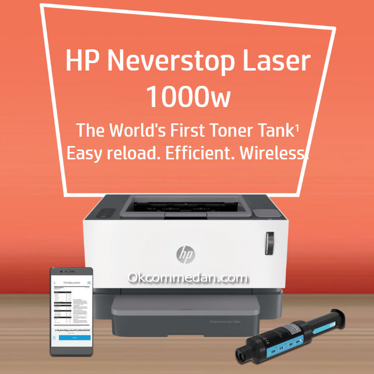 HP Printer Neverstop Laser 1000w ( wireless )
