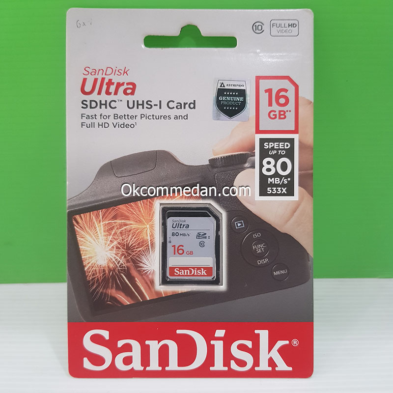 Harga Sandisk SDHC UHS-I Memory Card 16 Gb