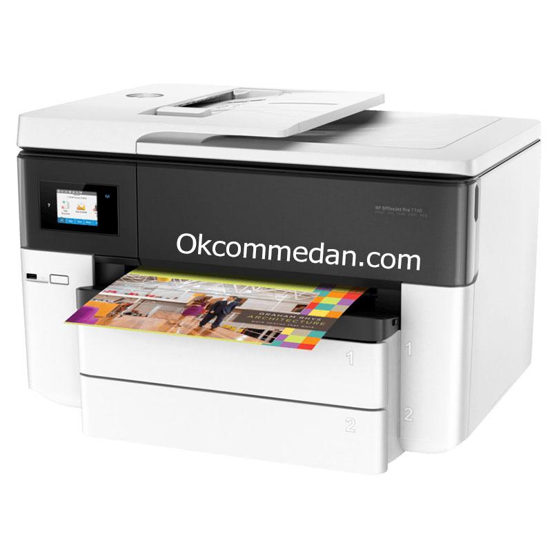 Printer HP Officejet Pro 7740 Print Scan Copy Fax A3