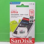 Micro SD Sandisk 16 Gb Class10 80 MBps