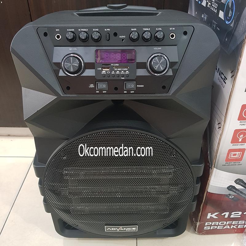 Jual Speaker Advance K1212 Bluetooth dengan 2 Mic Wireless
