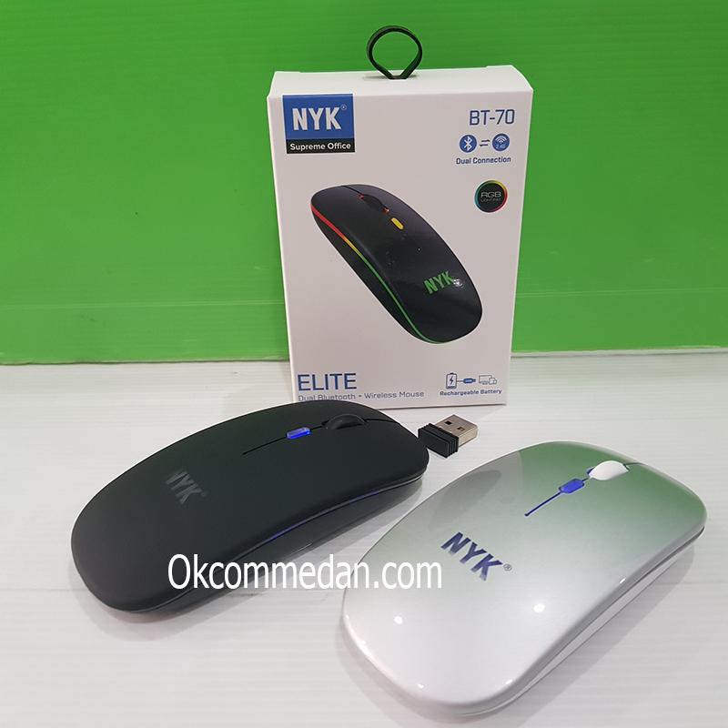 NYK BT-70 Mouse Wireless USB dan Bluetooth