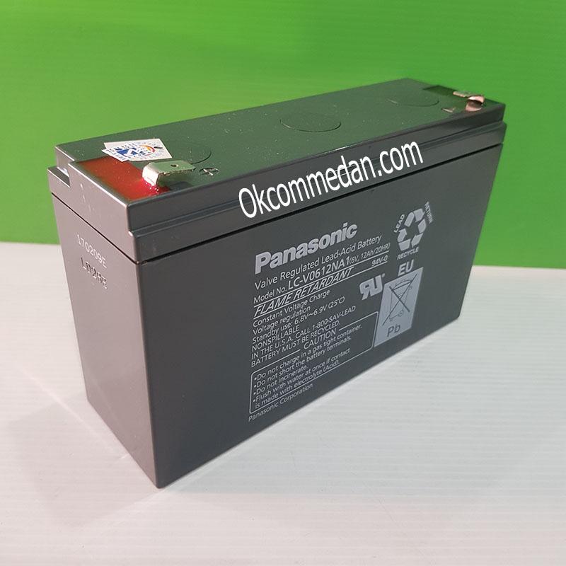 Baterai Kering Panasonic 6v 12 Ah ( LC-V0612NA1 )