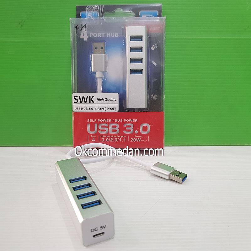 Jual SWK 4 Port USB Hub 3,0 Metal