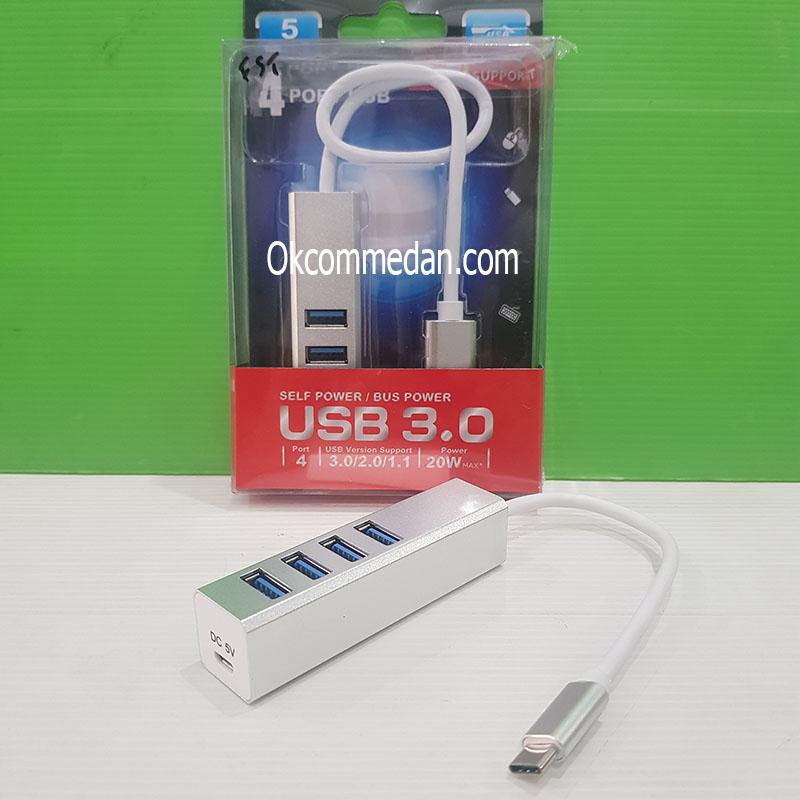Jual SWK USB Tipe C ke 4 Port USB 3,0 Tipe A Hub