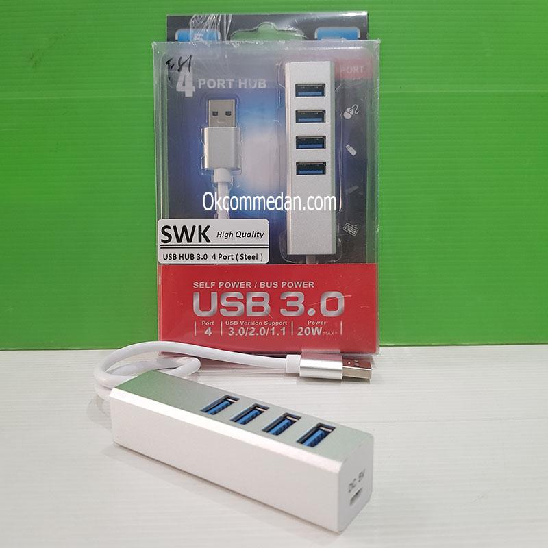 SWK 4 Port USB Hub 3,0 Metal