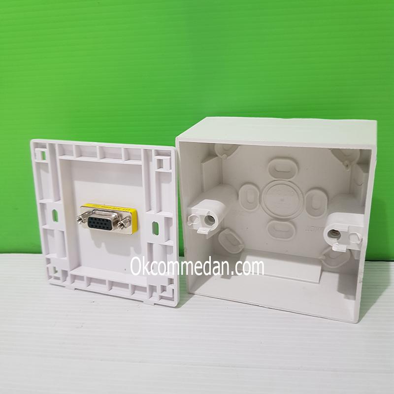 Jual VGA Faceplate atau Wallplate 1 Port