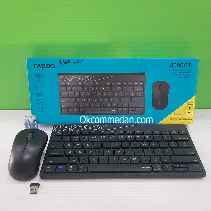 Rapoo Keyboard Mouse Wireless Multi Mode 8000GT
