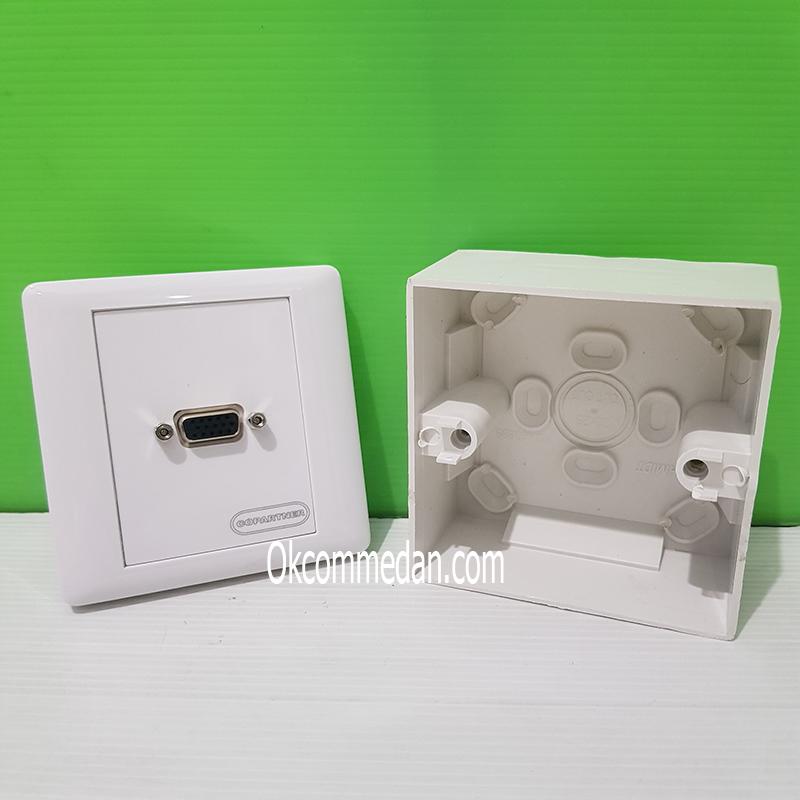 VGA Faceplate atau Wallplate 1 Port