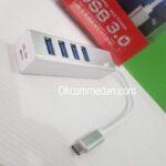 SWK USB Tipe C ke 4 Port USB 3.0 Tipe A Hub
